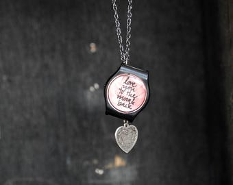 Love. Love Necklace. Repurposed necklace. Watch. Watch Necklace. Unique Necklace. Statement Jewelry. Gift for her. Heart. Gift. Steampunk