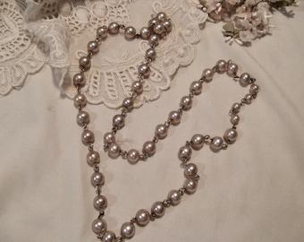 """Vintage Faux Pearl Necklace 25"""""""