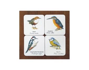 British Bird Coasters - (Set of 4)