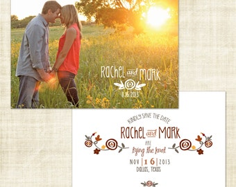 Fun Floral Save the Date