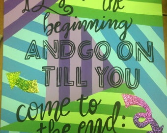 Alice in Wonderland Quote Painting