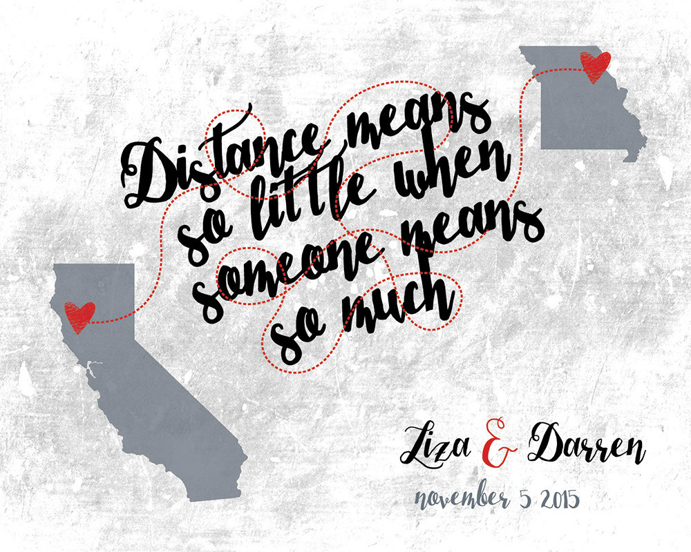 Long distance friendship quote map valentines gift love zoom gumiabroncs Choice Image