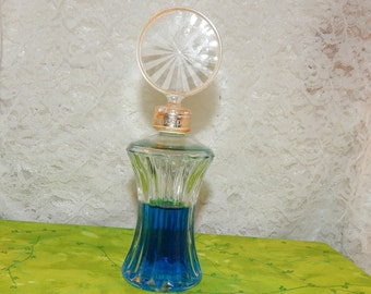Vintage ''Jovan'' Bottle no cologne blue water in a ''Mink and Pearls '' Cologne Slash Glass Bottle