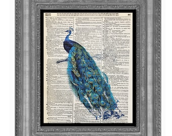 Peacock, Blue Peacock, Peacock Art, Blue Art, Peacock Blue Art, Print of Peacock, Peacock Artwork, Teal Peacock, Peacock Teal Color