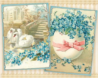 Easter cards Greeting cards Printable cards Easter paper goods Digital collage sheet