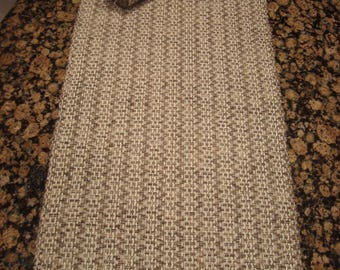 Handwoven Table Runner - Taupe