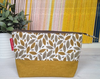 Zip bag with zipper-pouch with zipper-ochre pouch-sachet with base