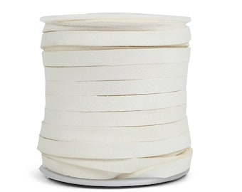 White Deerskin Lacing - (1) 50 foot spool, 3/16th inch lace.  Deerskin lace. (297-316x50WH) A9