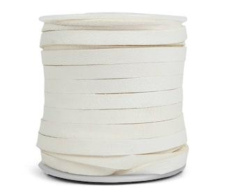 White Deerskin Lacing - (1) 50 foot spool, 3/16th inch lace.  Deerskin lace. (297-316x50WH)