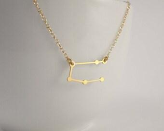 Gemini Constellation Necklace, Zodiac Constellation Necklace, Gemini Charm, Gemini Necklace, Stars, Astrology
