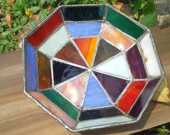 Octagon Fruit Holder ~ Stained Glass