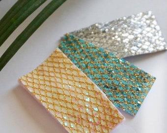 glitter mermaid snap clips
