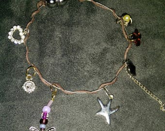 Mixed girly charm bracelet