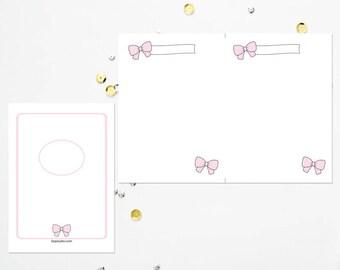 B6 TN Pink Bow Blank