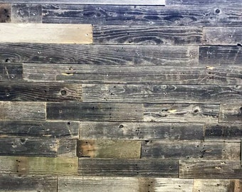 Reclaimed BarnWood Wall Planks - DIY Barn wood Reclaimed Wall Paneling - Simple Peel and Stick - Wood Accent Wall  20 Sq Ft.