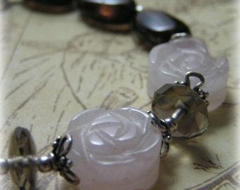 ICED COCOA - Smokey and Rose Quartz Bracelet