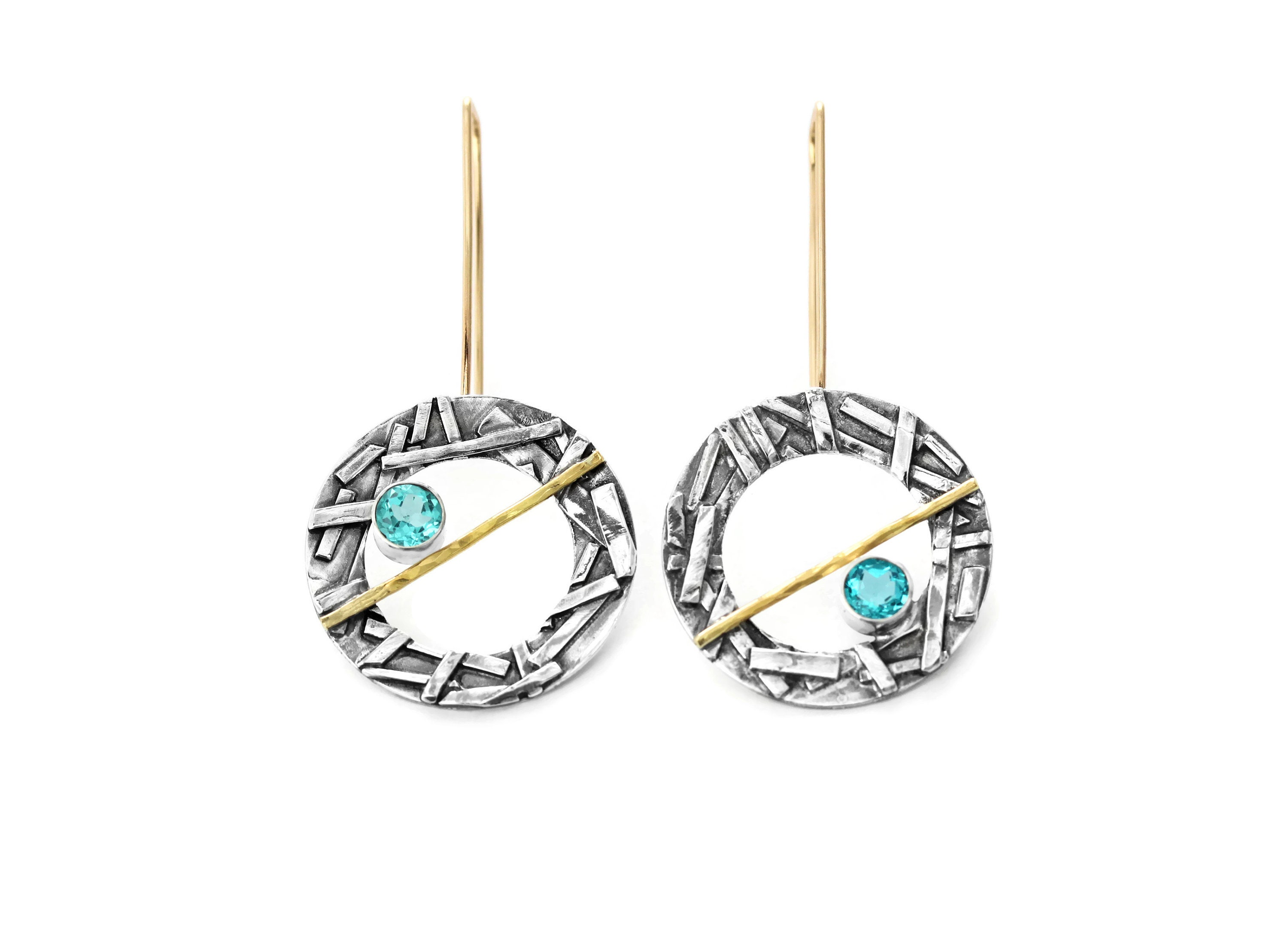 by pinchgoods studs colectiva products raw earrings neon apatite neonapatite