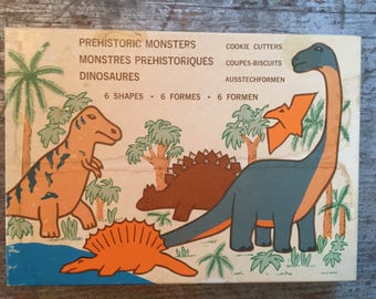 Vintage Fox Run Craftsmen Prehistoric Monster Cookie Cutters