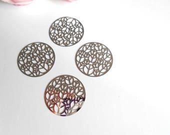 set 4 prints silver