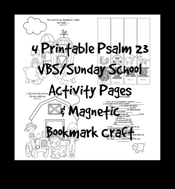 VBS Sunday School Scripture Activity Coloring Pages Printable