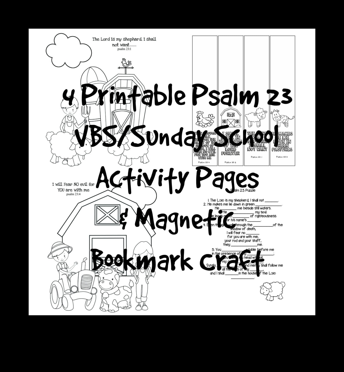 VBS Sunday School Scripture Activity Coloring Pages