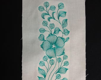 Machine Embroidery Border, Light and Airy.  Border 010