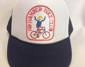 Youth Trucker Hat-with Bicycle Patch- Kids Trucker Hat