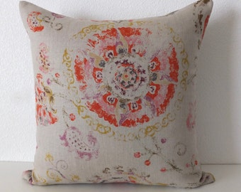 Junoon Chili Suzani Throw Pillow Cover