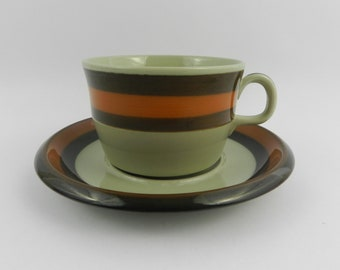 Ceramic cup with saucer Annika Rorstrand Sweden