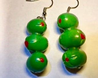 Dirty Martini Olive Earrings