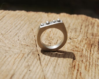 Sterling Silver Ring - Contemporary design - made to order