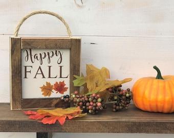 Happy Fall Sign, Fall Sign, Farmhouse Decor, Farmhouse Fall, Farmhouse Sign