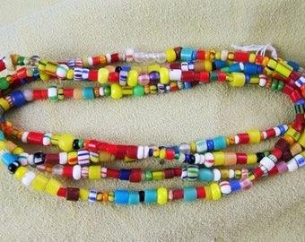 Strand of African Trade Beads - aka Christmas Beads or Christmas Trade Beads (some vintage) (DR-011)