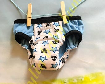 Size SMALL boys cloth skulls training underwear- toddler underwear- trainers- pull ups-  FREE SHIPPING