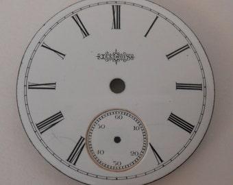 Illinois Pocket Watch Porcelain Dial Original 46MM(16)