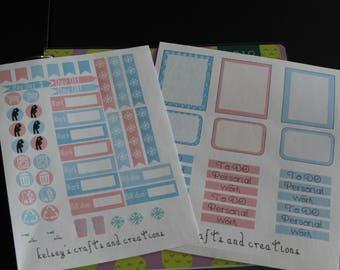 Pastel Winter weekly kit
