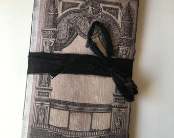 Gothic Notebook, Baroque Frame, Paperback Writing Journal, Notebook