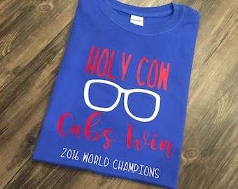 Chicago Cubs, Cubbies, World Series, Cubs Champions, Holy Cow, 2016 World Champions,Harry Caray
