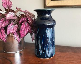Free Shipping Blue Italian Pottery Vase