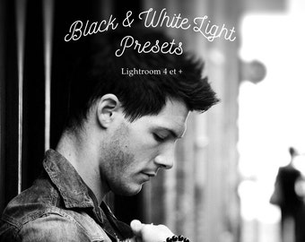 Pack of 20 Black and White Lightroom Presets Light