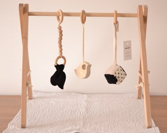 Portico educational game wooden baby gym