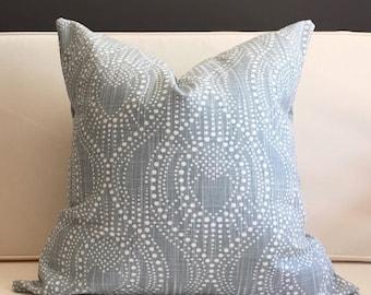 Pillow Cover, Blue Ikat Pillow Cover - CARTER