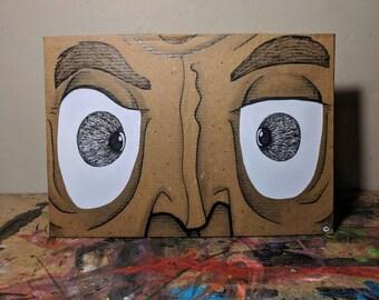 Cardboard Art / Wall Art - Double Crossed