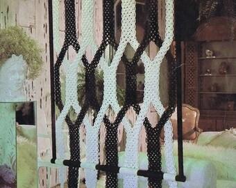 MACRAME PATTERN Vintage 70s Macrame Room Divider macrame Wall Hanging Macrame Curtain Macrame Wall Decor
