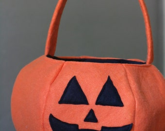 Halloween Treat Bag PDF Sewing Pattern with 5 Styles including: Cat, Fairy/Princess, Monster, Strawberry, and Pumpkin/Jack-O-Lantern
