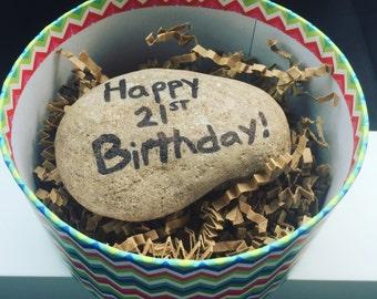 Happy Birthday - Custom Gift A Rock!