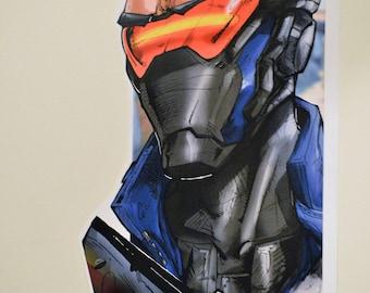 Soldier 76 mini poster