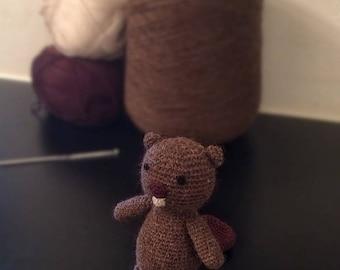 Crochet Beaver. Amigurumi. Toy. Baby. Child. 11cm Tall.  - PATTERN ONLY