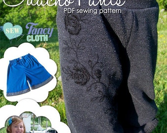 INSTANT DOWNLOAD Knickers and Gaucho Pants PDF Pattern by Fancy Cloth