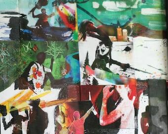 Art Print Mixed Media Collage- Freedom